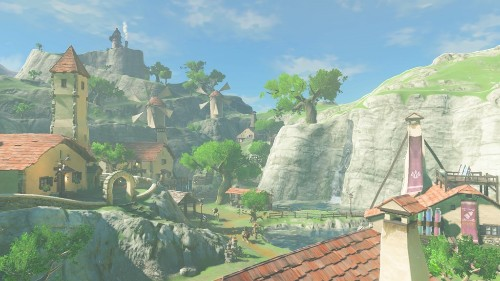 The Legend of Zelda: Breath of the Wild's map is based on Kyoto