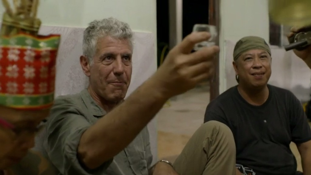 Watch Anthony Bourdain Get a Painful Tattoo in Borneo