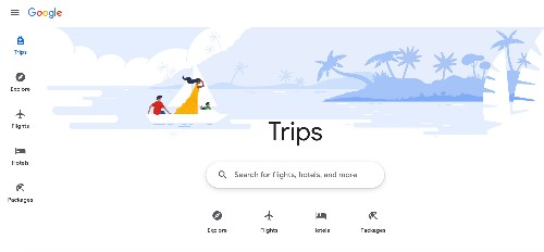 Google's combining all its travel planning features under a site called Trips