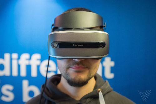 This is Lenovo's Windows Holographic VR headset
