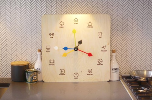 The Eta Clock tells you where your family members are, just like in Harry Potter