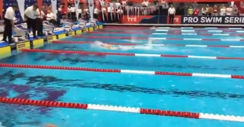 Katie Ledecky broke her own 1500m world record by 5 SECONDS like it was nothing