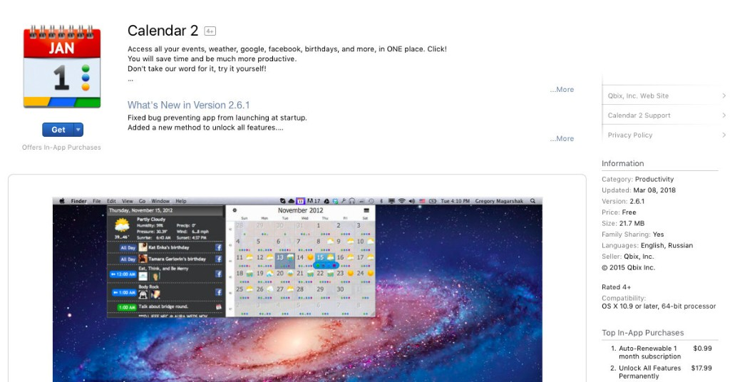 Calendar app in Mac App Store mines cryptocurrency in the background