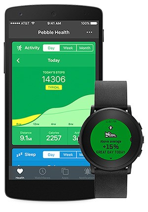 Pebble adds more health-tracking features to its smartwatch and mobile app