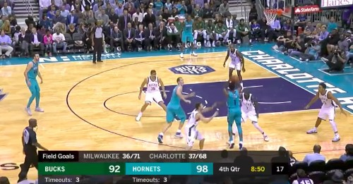 Hornets' Malik Monk scored 14 points in 4 minutes (!!) in a close win vs. Bucks