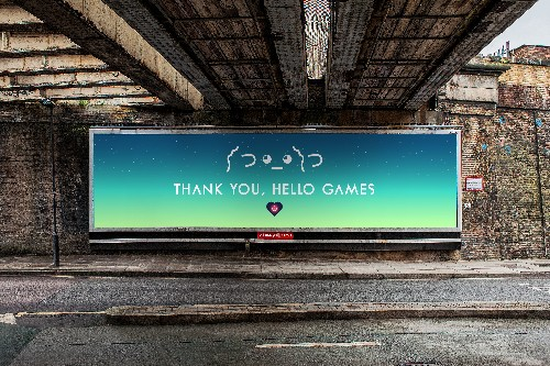 No Man's Sky fans crowdfund a billboard message to thank developer for work
