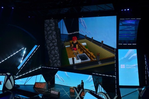 Microsoft is building a special version of Minecraft for HoloLens