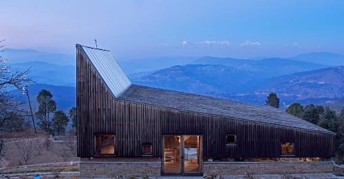 Striking mountain home frames stunning views of the Himalayas