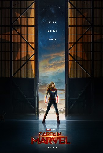 The hidden cat in the Captain Marvel poster has a comic past