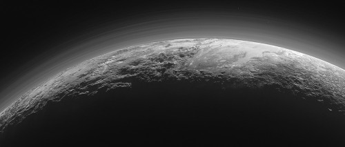 New panoramic photos show off Pluto's grand icy mountains and atmosphere