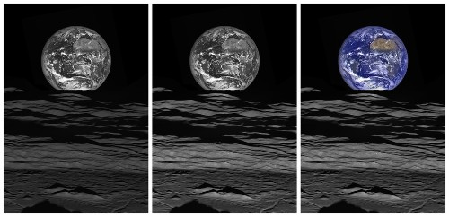 NASA just released an unbelievable new image of the Earth rising over the Moon