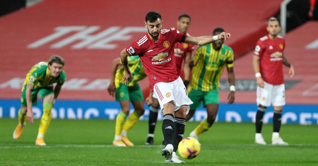 Manchester United 1-0 West Bromwich Albion: Bruno Fernandes nets penalty as Reds strike lucky