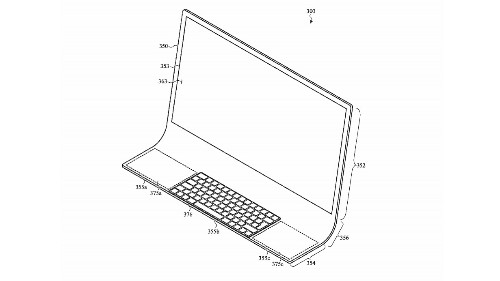 Apple imagines iMac built into curved sheet of glass