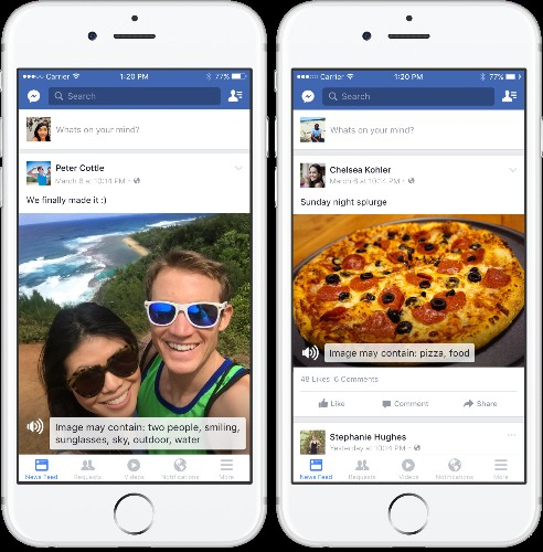 Facebook begins using artificial intelligence to describe photos to blind users