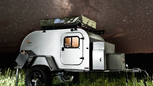 Tiny teardrop trailer can tackle any terrain