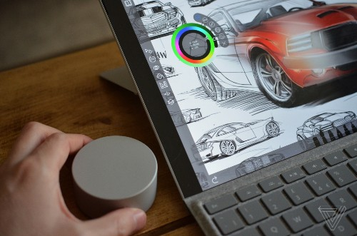 A closer look at Microsoft's crazy Surface Dial puck