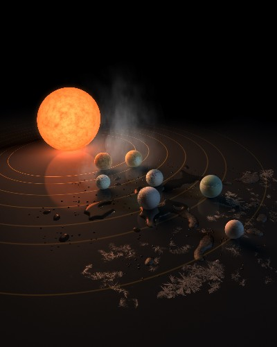 This solar system of seven Earth-sized planets may be the best place to look for alien life
