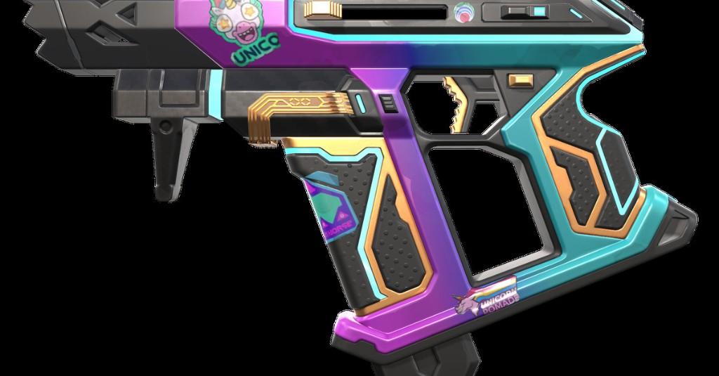 Valorant's new skin line turns your gun into a cyberpunk sticker book