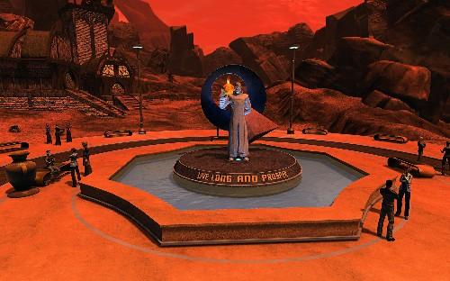 This is Star Trek Online's Leonard Nimoy memorial