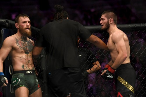 Khabib mocks Conor McGregor's KO record, showing he's been submitted in 3 divisions