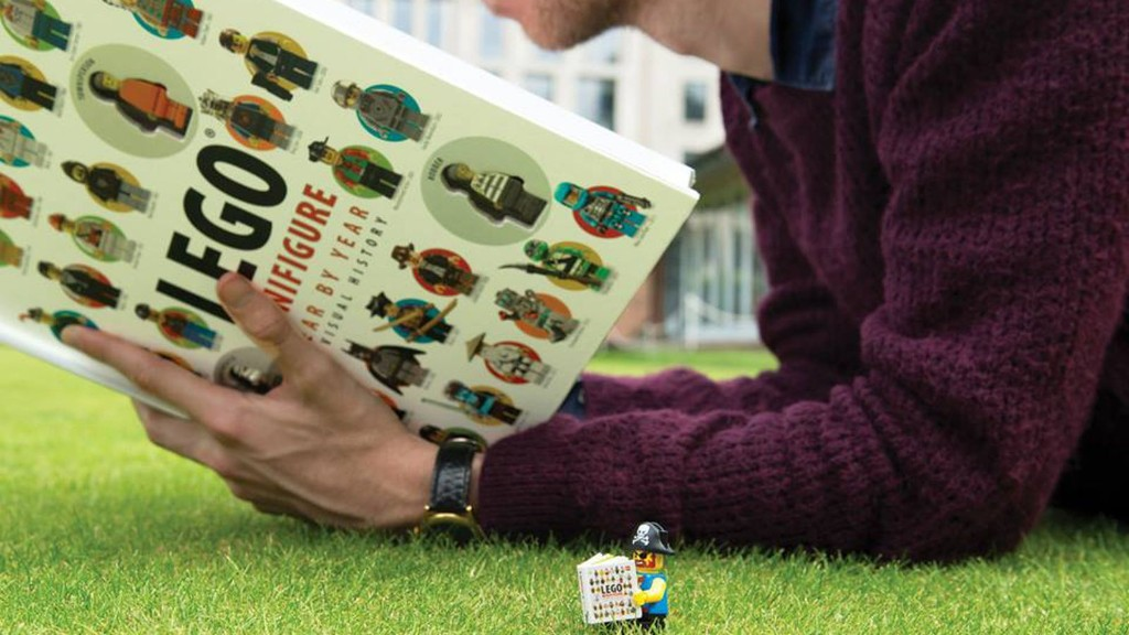 Lego Minifigure history printed in inch-high book