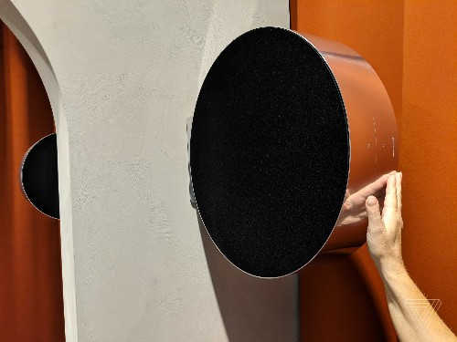 Bang & Olufsen's Edge speaker can be rolled to adjust the volume