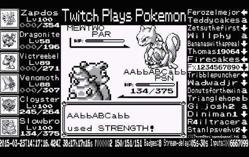Twitch Plays Pokémon finally captures all 151 original monsters