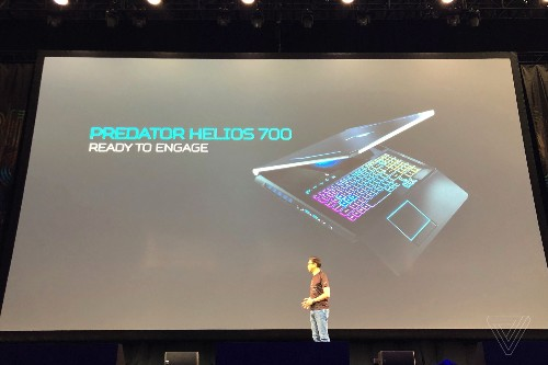 Acer's new Predator Helios 700 gaming laptop has a transforming keyboard and trackpad