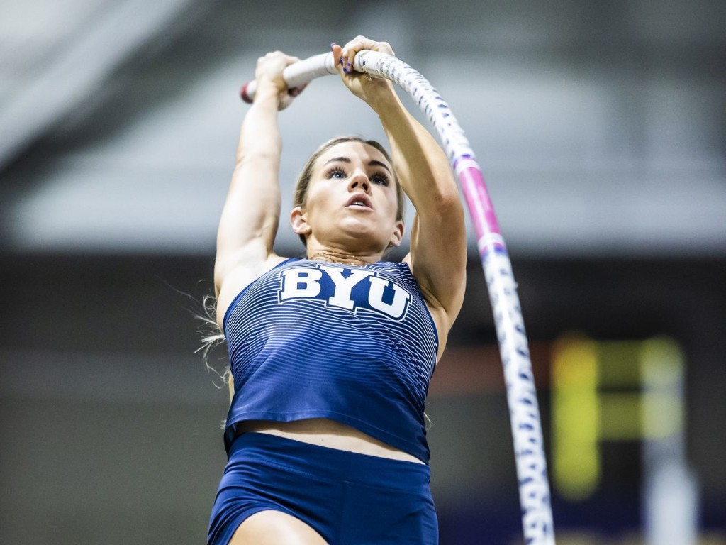 'I have a little bit of crazy in me': How BYU pole vaulter Elise Romney one-upped her football-playing husband's heroics last fall