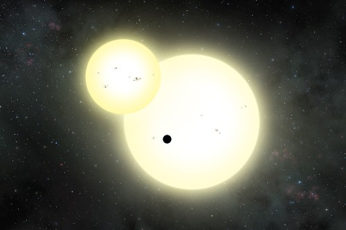 Found: planet the size of Jupiter orbiting two Sun-like stars
