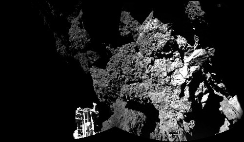 Philae lander shrouded in darkness for most of the day after bouncy comet landing