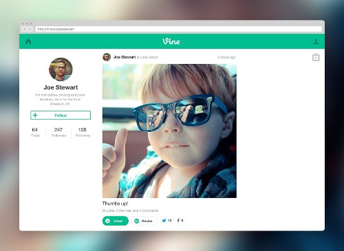 Vine launches web profiles and new full-screen 'TV Mode'