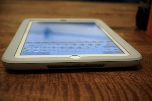 Phorm iPad mini case has physical 'key guides' that appear and disappear when you need them