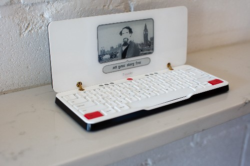 The Freewrite Traveler is more portable and cuter than the original distraction-free typewriter