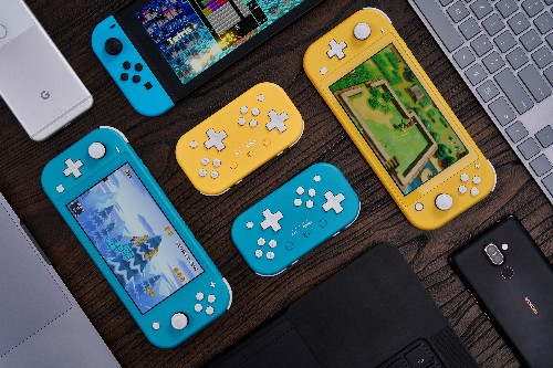 Here's a cute controller to go with your cute Switch Lite