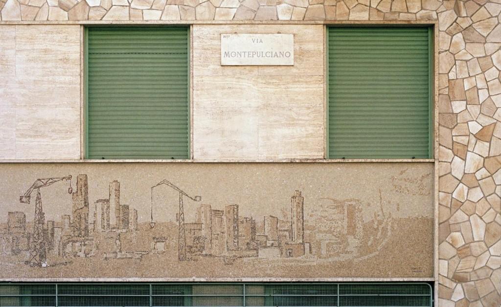 Exploring Milan's colourful surfaces through Stefan Giftthaler's lens