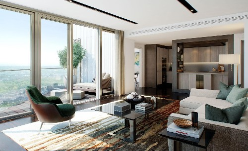 Designed by Herzog de Meuron, One Park Drive is Canary Wharf's signature residential building