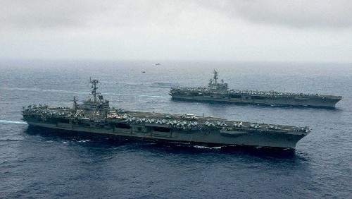 In rare move, the Navy sends two aircraft carriers near the Philippines