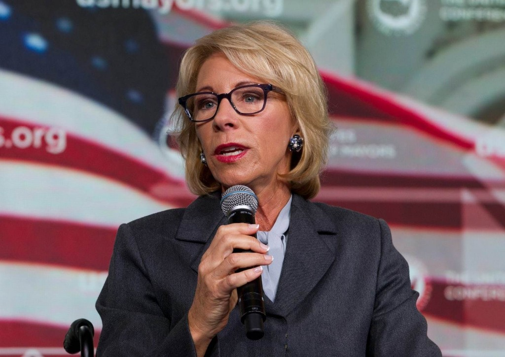 Betsy DeVos is pushing a terrible double standard on college campuses
