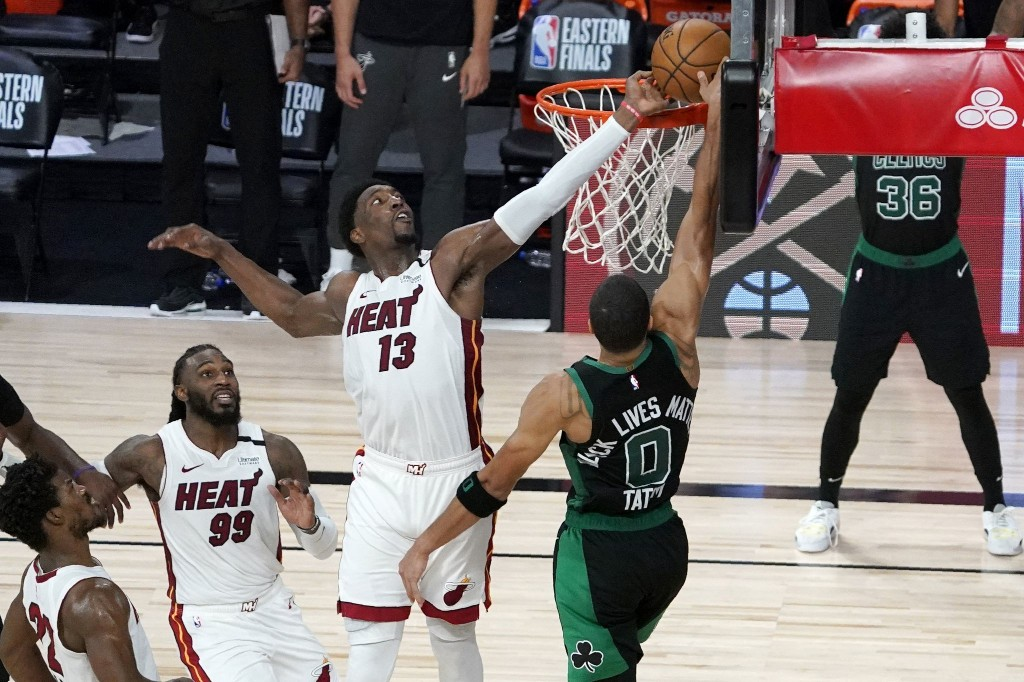 Bam Adebayo lifts Heat to Game 1 win over the Celtics with block for the ages