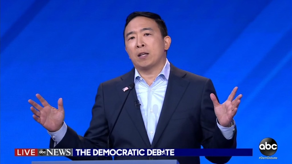 Andrew Yang's plan to give 10 families $1,000 a month drew giggles, Oprah GIFs — and legal concerns
