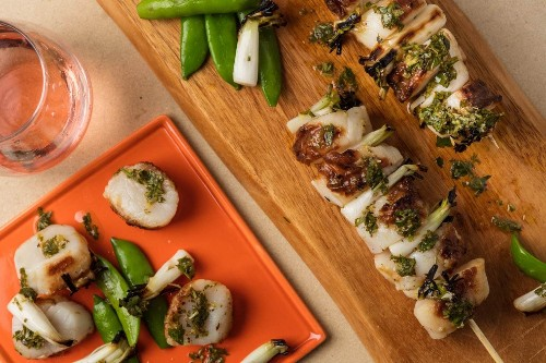 For scallops that sizzle with a drizzle