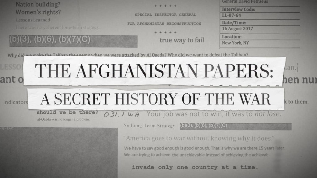 How The Post unearthed The Afghanistan Papers