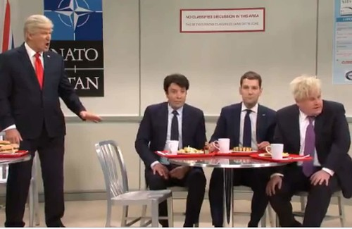 In SNL cold open, world leaders gossip about Trump like schoolchildren in the NATO cafeteria