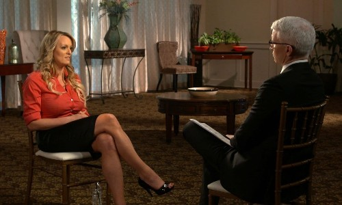 Stormy Daniels says threats kept her quiet about alleged Trump affair until now