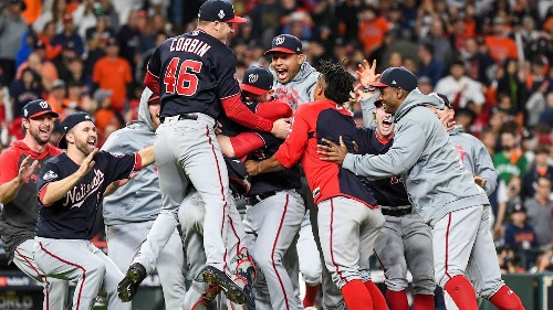 Nationals win first World Series title, storming back on Astros in Game 7, 6-2