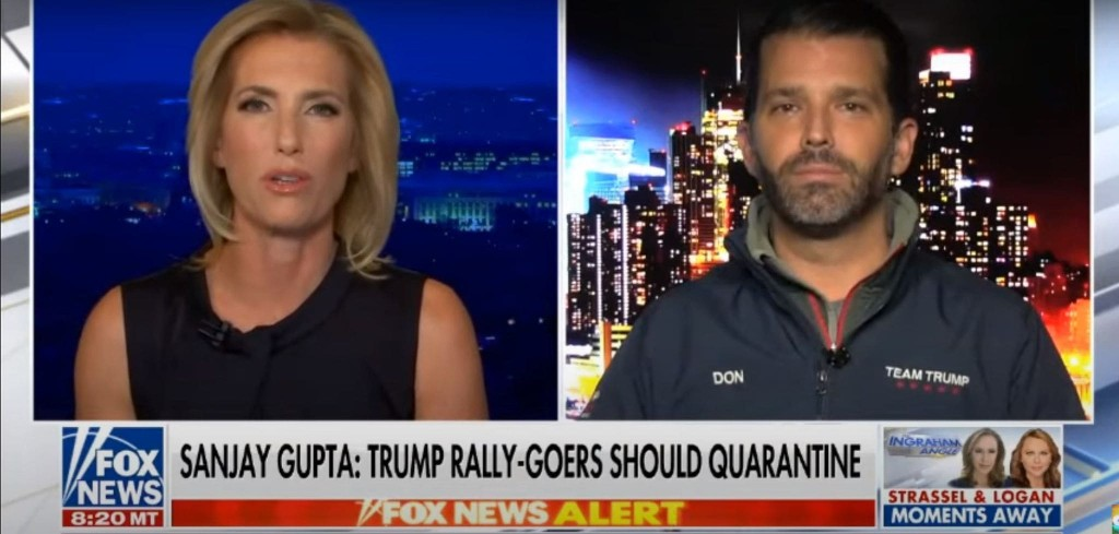 Donald Trump Jr. said covid-19 deaths are at 'almost nothing.' The virus killed more than 1,000 Americans the same day.