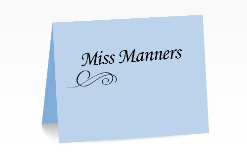 Miss Manners: 'Hypothetically, if our marriage falls apart …'
