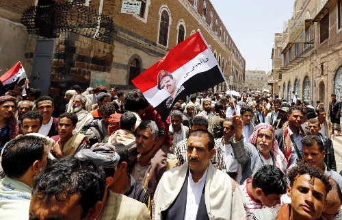 Saudi airstrike hits a school in northern Yemen, killing 10 children