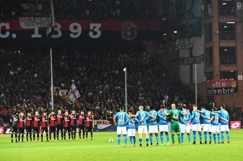 Anne Frank's diary was read in Italian stadiums. Some fans turned their backs and sang in protest.